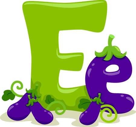баклажан: Иллюстрации с изображением буквы Е