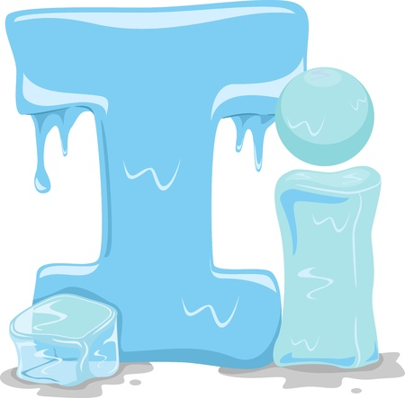 ice alphabet: Illustration Featuring the Letter I