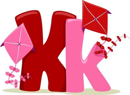 letter k: Illustration Featuring the Letter K