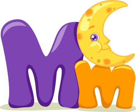 cutout: Illustration Featuring the Letter M Stock Photo