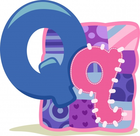 cutout: Illustration Featuring the Letter Q