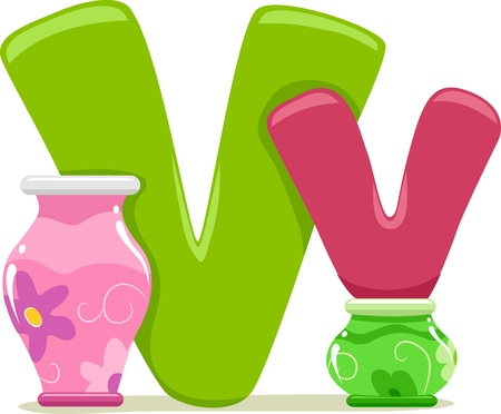 capital letter: Illustration Featuring the Letter V