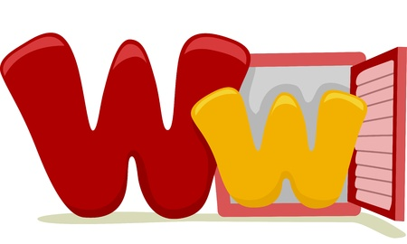 capital letters: Illustration Featuring the Letter W