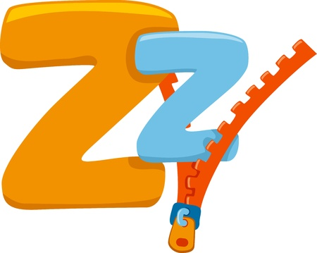 letters clipart: Illustration Featuring the Letter Z
