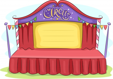 circus stage: Background Illustration of a Circus Stage Stock Photo