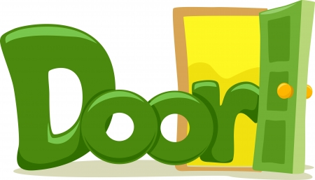 letter d: Text Illustration Featuring the Word Door