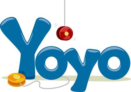 yoyo: Text Illustration Featuring the Word Yoyo