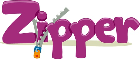 educational subject: Text Illustration Featuring the Word Zipper