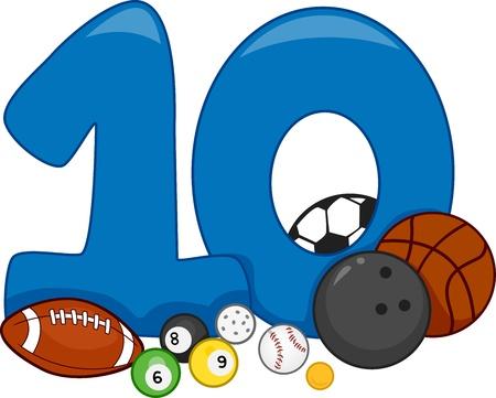 numero diez: Ilustración Con el número 10