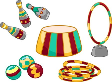 Illustration Featuring Circus Related Items illustration