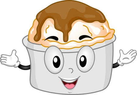 pure de papas: Mascota ilustraci�n que ofrece una de Pur� de Papas