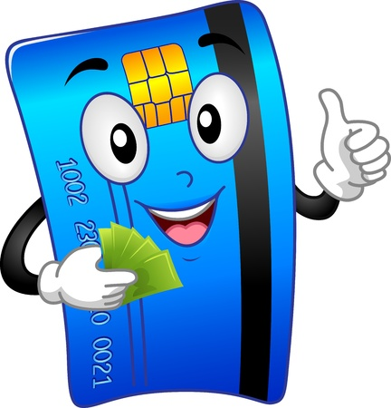 atm card: Mascot Illustration Featuring an ATM Card