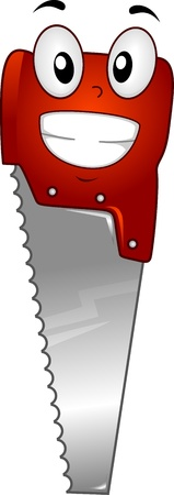 doityourself: Mascot Illustration Featuring a Saw Stock Photo