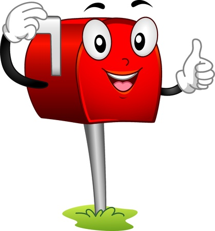 letterbox: Mascot Illustration Featuring a Mailbox Stock Photo