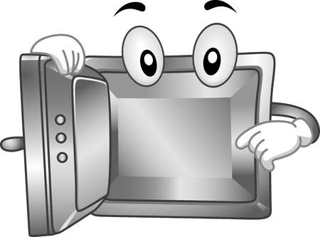 break in: Mascot Illustration Featuring an Empty Vault