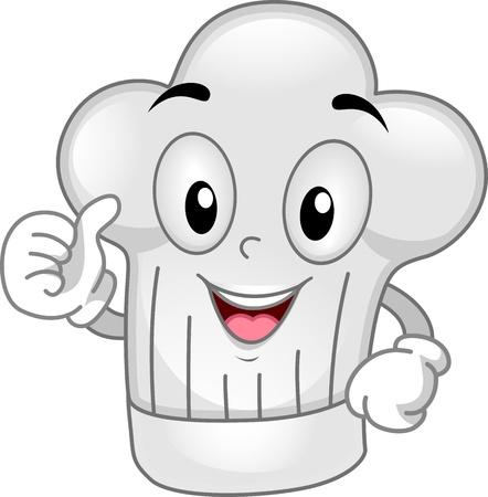 toque: Mascot Illustration Featuring a Toque