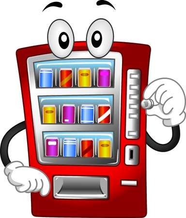 Mascot Illustration Featuring a Vending Machine Stock Illustration - 14231826