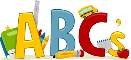 abc's: Text Illustration Featuring Letters of the Alphabet - Learning ABCs