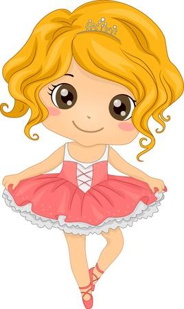 ballet tutu: Illustration Featuring a Little Ballerina