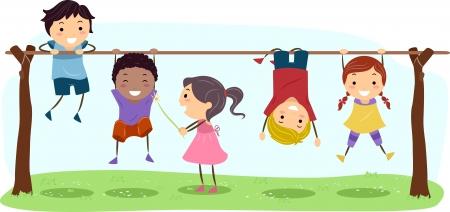 bambini che suonano: Bambini Illustrazione Featuring gioco