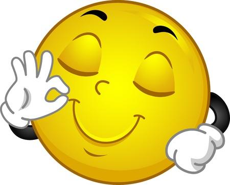 spokojený: Ilustrace Díky Spokojený Smiley