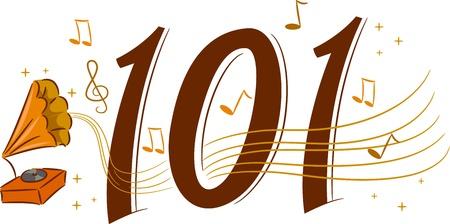 gramaphone: Illustration Depicting the Basics of Retro Music - Music 101