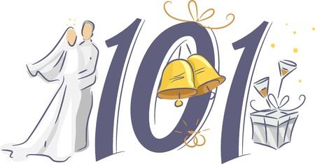 tips: Illustration Depicting the Basics of Wedding Planning - Wedding 101