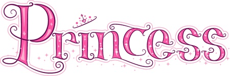 princess crown: Text Illustration Featuring the Word Princess Stock Photo