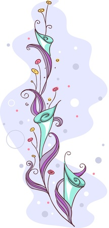 Illustration Featuring Ornaments with a Floral Theme illustration