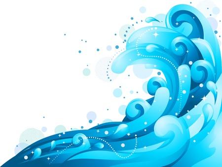 olas de mar: Ilustraci�n que ofrece olas gigantes