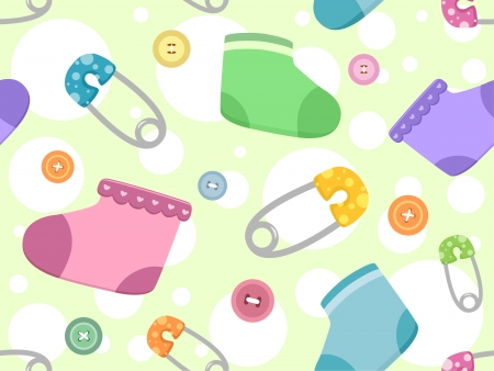 art blog: Seamless Background Illustration Featuring Baby Products