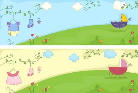 Illustration Avec tête de bébé Articles liés