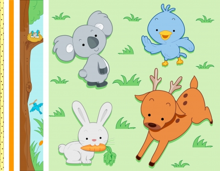 Border Illustration Featuring Jungle Animals illustration