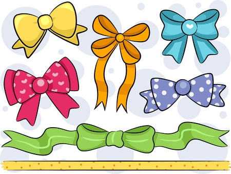 featuring: Border Illustration Featuring Ribbons