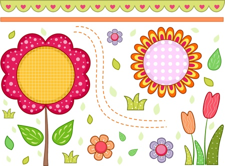 art blog: Border Illustration with a Floral Theme