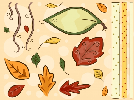 featuring: Border Illustration Featuring Leaves
