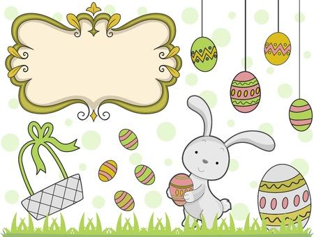 Illustration Featuring Easter Elements illustration