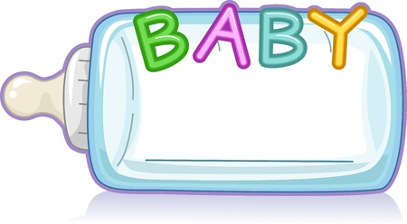 Text Illustration Featuring the Word Baby illustration