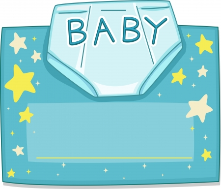 baby diaper: Card Design Featuring a Baby Diaper Stock Photo