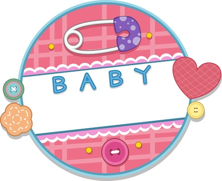 Card Design with a Baby Theme photo