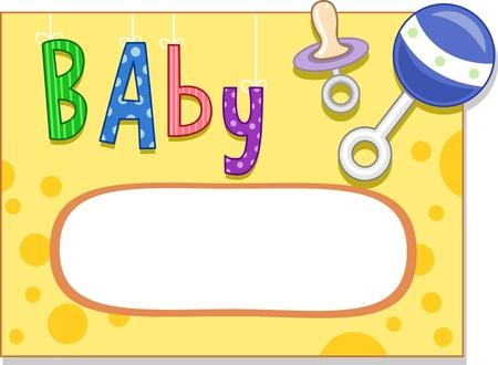 sonaja: Diseño de tarjeta con un tema del bebé Foto de archivo