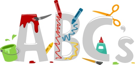 abc's: Text Illustration Featuring Art Materials - ABCs of Art