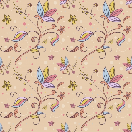frilly: Background Seamless Illustration with a Floral Design Stock Photo