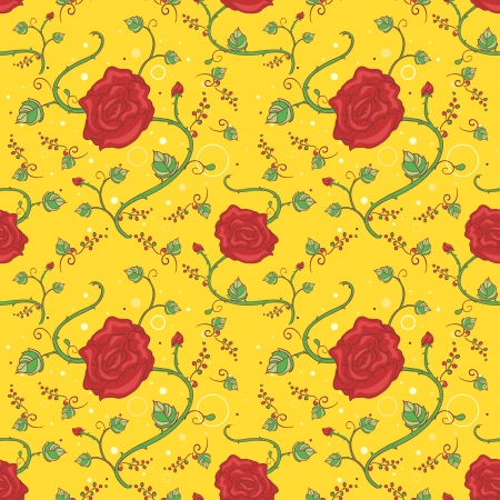Background Seamless Illustration with a Floral Design illustration
