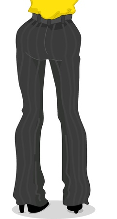 Cropped Illustration Featuring the Legs of a Woman Wearing a Business Attire illustration