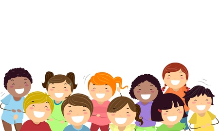 Background Illustration Featuring Kids Laughing Out Loud illustration