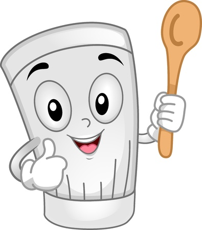 toque: Illustration of a Toque Mascot Holding a Ladle