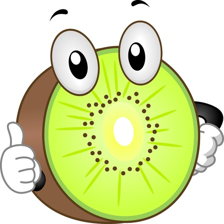 kiwi fruit: Illustration of a Kiwi Mascot Giving a Thumbs Up