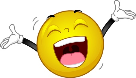 happy emoticon: Illustration of a Smiley Laughing Out Loud