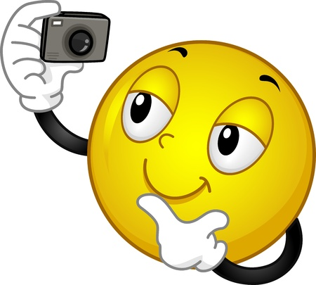 pic: Illustration of a Smiley Taking a Picture of Himself